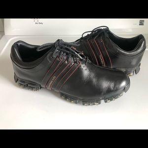 ADIDAS TOUR360 LTD Black Leather Golf Shoes 10.5